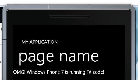 The WP7 emulator running F# code