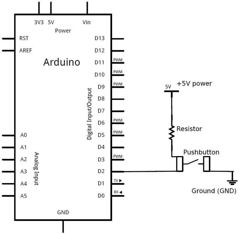 Circuito Ups : Arduino c ancora il pulsante… come semplificare